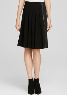 Elie Tahari Linda Mixed Media Skirt
