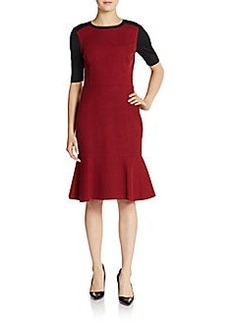 Elie Tahari Linore Colorblock Dress