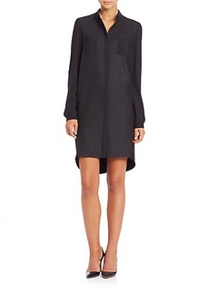 Elie Tahari Long-Sleeve Valerie Flannel Shirtdress