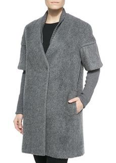 Elie Tahari Louisa Long Coat W/ Layered Sleeves
