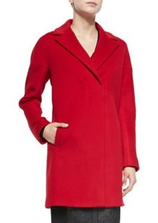 Elie Tahari Louisa Snap-Front Coat
