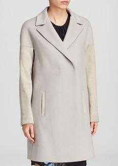 Elie Tahari Louisa Suede Coat