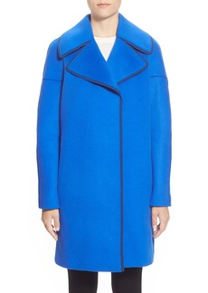Elie Tahari 'Louisa' Wool Blend Long Coat