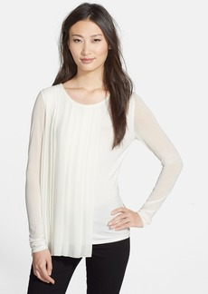 Elie Tahari 'Luca' Pleat Overlay Blouse