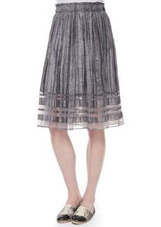 Elie Tahari Luna Pleated Linen Skirt  Luna Pleated Linen Skirt