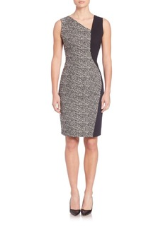 Elie Tahari Lyndsey Jacquard Colorblock Dress