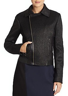 Elie Tahari Mae Tweed Motorcycle Jacket