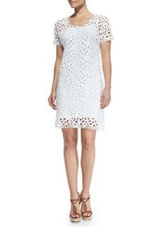 Elie Tahari Maissa Short-Sleeve Bramble Lace Dress