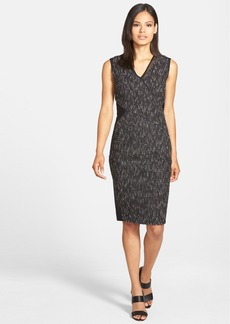 Elie Tahari 'Maisy' Sleeveless Mixed Media Sheath Dress