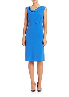 Elie Tahari Maize Cowlneck Dress