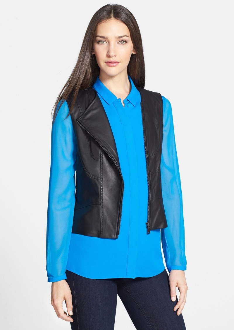 Elie Tahari 'Mallory' Leather Vest