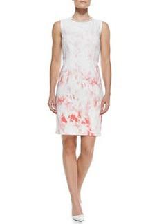 Elie Tahari Maren Printed Sleeveless Sheath Dress