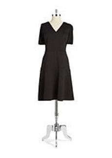 ELIE TAHARI Maria Fit-and-Flare Dress