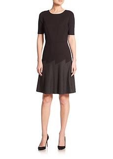 Elie Tahari Maria Two-Tone Double Knit Dress