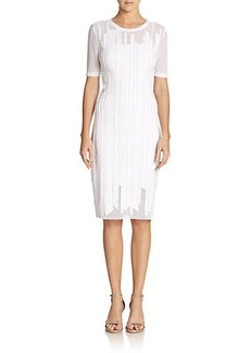 Elie Tahari Marianna Mesh Knit Dress