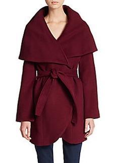 Elie Tahari Marla Wool Wrap Coat