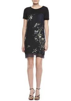 Elie Tahari Maudette Reversible Floral-Print Dress
