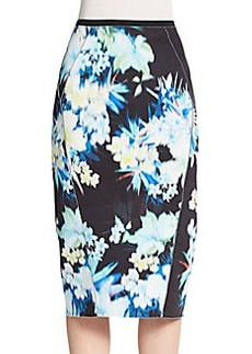 Elie Tahari Maureen Printed Pencil Skirt