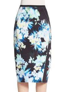 Elie Tahari Maureen Printed Pencil Skirt