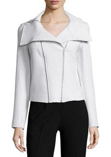 Elie Tahari Melanie Coated Tweed Moto Jacket  Melanie Coated Tweed Moto Jacket