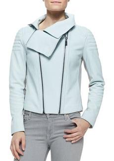 Elie Tahari Melanie Moto Leather Jacket