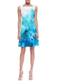 Elie Tahari Melany Sleeveless A-Line Silk Dress