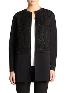 Elie Tahari Melody Bouclé-Panel Jacket