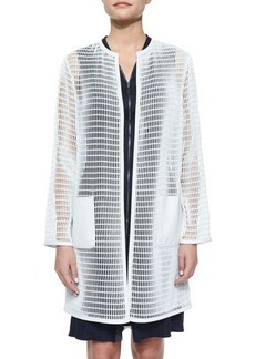 Elie Tahari Melody Mesh Long Coat