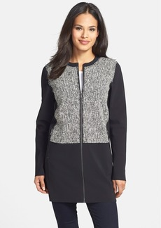 Elie Tahari 'Melody'  Mixed Media Coat