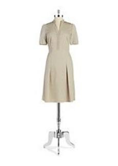ELIE TAHARI Mesh Accent Dress