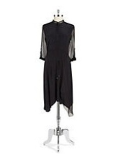ELIE TAHARI Mesh Shirt Dress