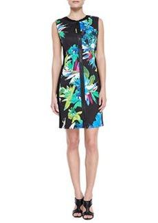 Elie Tahari Mila Front-Zip Aruba Print Dress