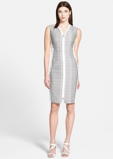Elie Tahari 'Mila' Mixed Media Sheath Dress