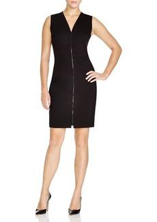 Elie Tahari Mila Zip Front Dress