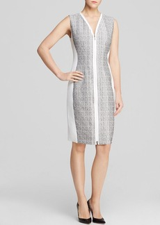 Elie Tahari Mila Zip Front Sheath Dress