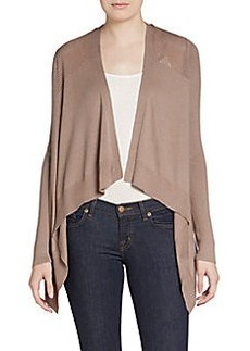 Elie Tahari Miley Cotton & Silk Knit Cardigan