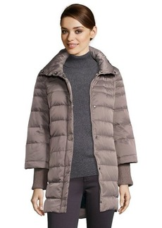 Elie Tahari mink quilted 'Silvana' fur trimmed hooded down jacket