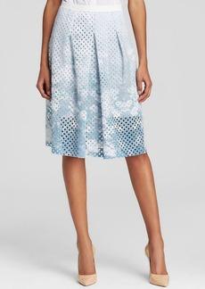 Elie Tahari Mirella Perforated Scuba Skirt - Bloomingdale's Exclusive