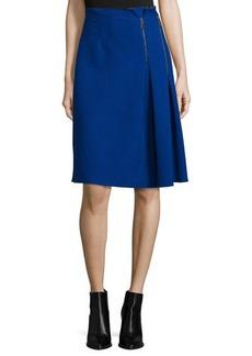 Elie Tahari Mirella Two-Zip Side-Pleated Skirt  Mirella Two-Zip Side-Pleated Skirt