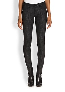 Elie Tahari Mixed-Media Azella Jeans