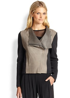 Elie Tahari Mixed-Media Courtney Jacket