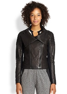 Elie Tahari Mixed-Media Melanie Jacket