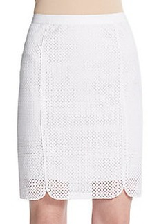 Elie Tahari Molly Cotton Eyelet Pencil Skirt