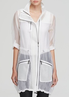 Elie Tahari Molly Sheer Silk Jacket