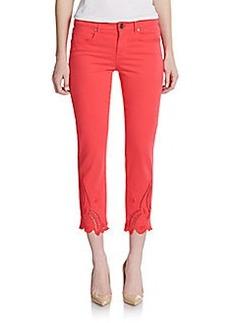 Elie Tahari Mona Eyelet Cropped Skinny Jeans