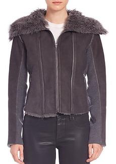 Elie Tahari Moria Shearling Jacket