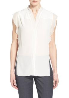 Elie Tahari 'Nancy' Silk Cap Sleeve Blouse