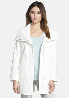 Elie Tahari 'Nara' Wing Collar Swing Coat