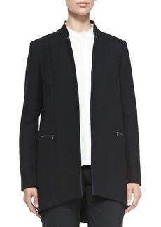 Elie Tahari Natalie Long Arch-Hem Coat