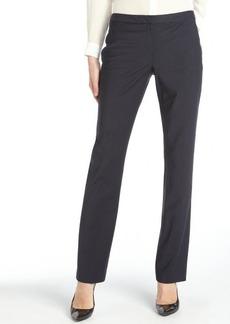Elie Tahari navy pin stripe wool blend 'Jenny' straight leg pant